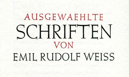 German Title of Weiss Book